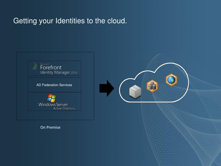 Getting your Identities to the cloud.