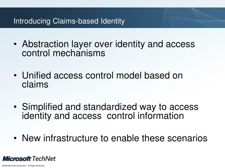 Introducing Claims-based Identity