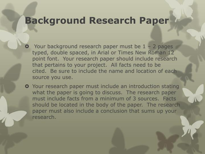 Background Research Paper