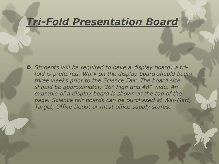 Tri-Fold Presentation Board