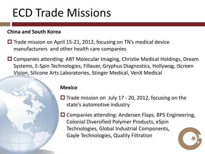 ECD Trade Missions