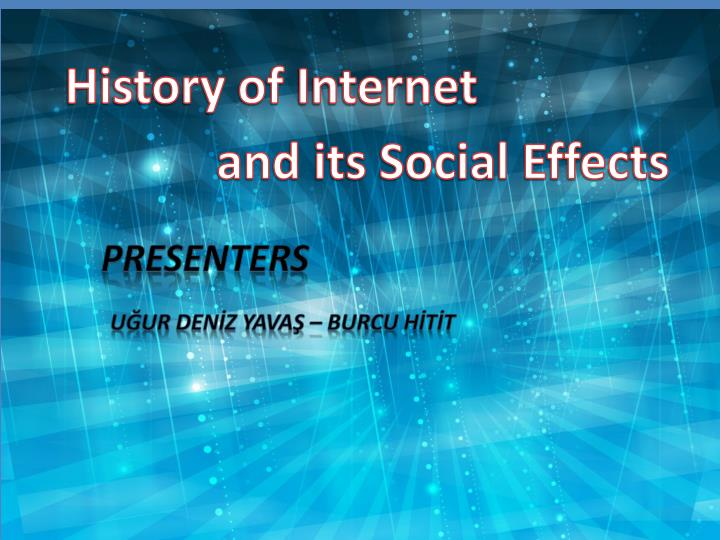 the history of the internet and its development Surprisingly, few books have been written that cover the full history of the internet, from progenitors such as vannevar bush and j c r licklider up through the entrepreneurial age of our own times not many people recall that the first impetus for what became the technology of the internet had its origins in cold war theorizing about nuclear warfare.