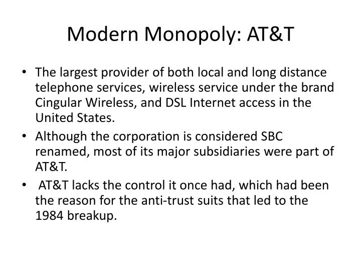 Modern Monopoly: AT&T