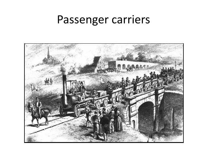 Passenger carriers