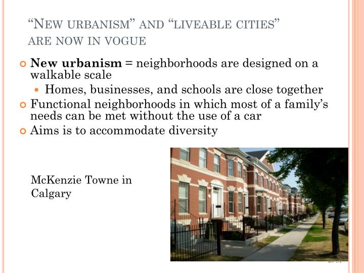 """New urbanism"" and """