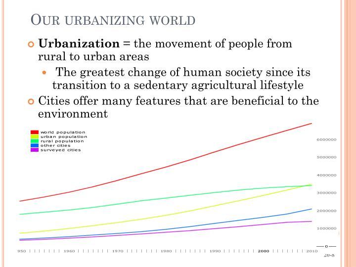 Our urbanizing world