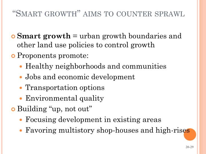"""Smart growth"" aims to counter sprawl"