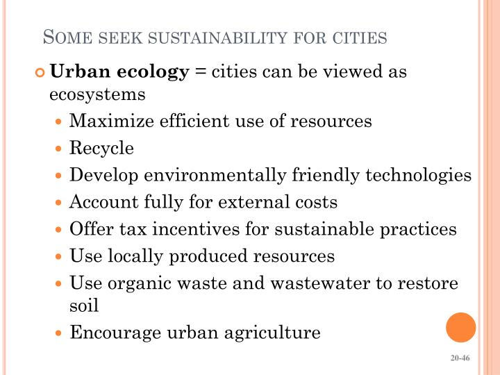 Some seek sustainability for cities