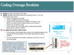 coding overage booklets