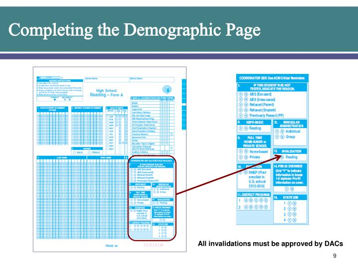 Completing the Demographic Page