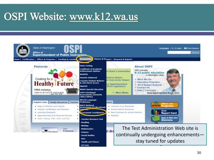 OSPI Website: