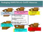 packaging hspe waas dape materials