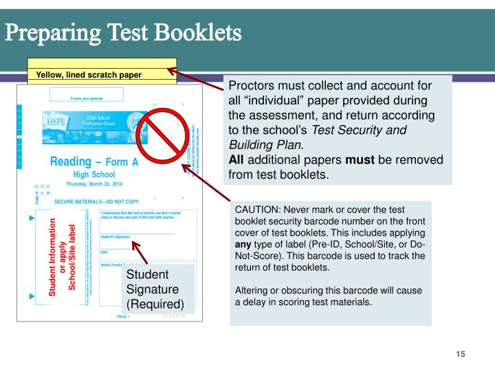Preparing Test Booklets
