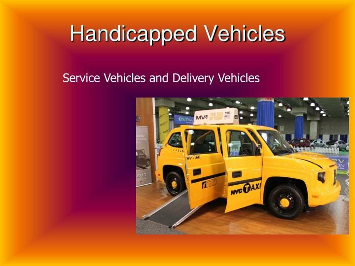 Handicapped Vehicles