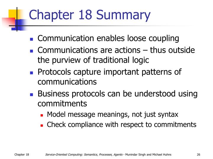 Chapter 18 Summary