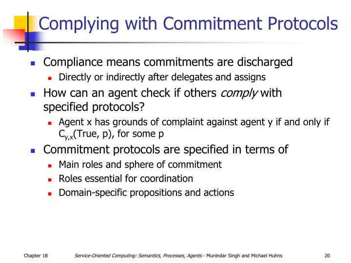Complying with Commitment Protocols