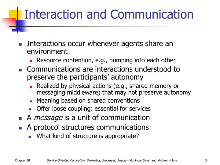 Interaction and Communication