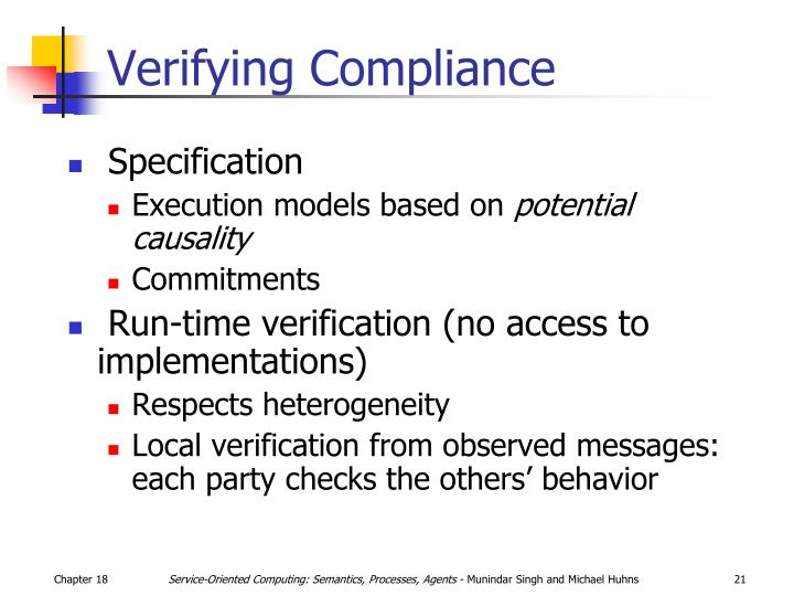 Verifying Compliance