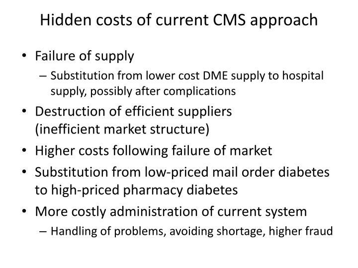 Hidden costs of current CMS approach