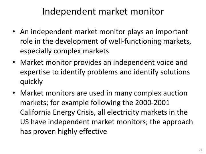 Independent market monitor