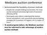medicare auction conference