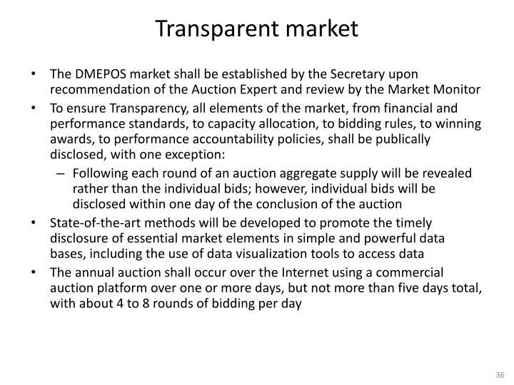 Transparent market