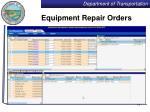 equipment repair orders