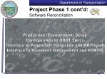 project phase 1 cont d software reconciliation