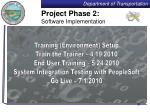 project phase 2 software implementation
