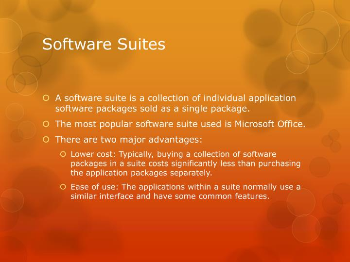Software Suites