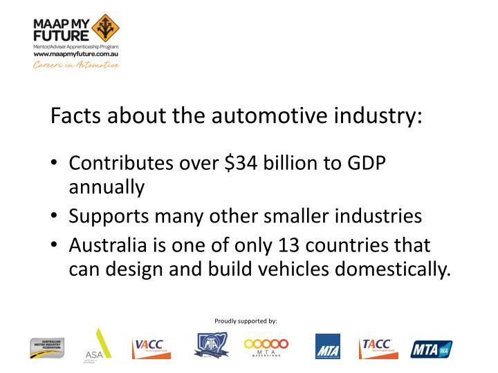 Facts about the automotive industry: