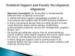 technical support and faculty development alignment