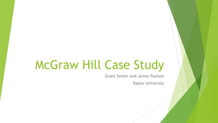 mcgraw hill case study