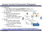 access control enforcement delegation