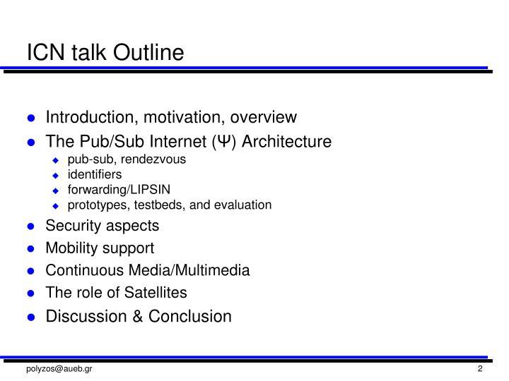 ICN talk Outline