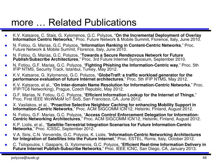 more … Related Publications