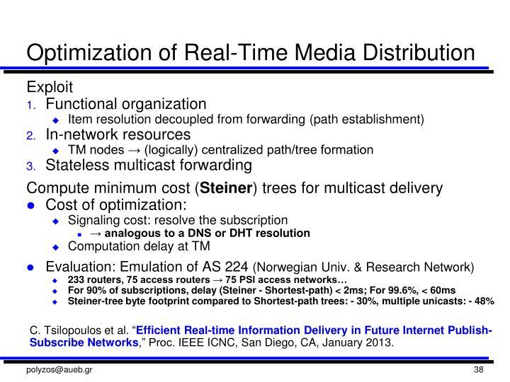 Optimization of Real-Time Media Distribution