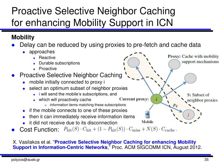 Proactive Selective Neighbor