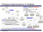 prototype implementations testbeds