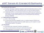 sat scenario 3 extended 4g backhauling