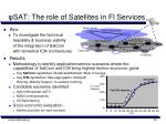 sat the role of satellites in fi services