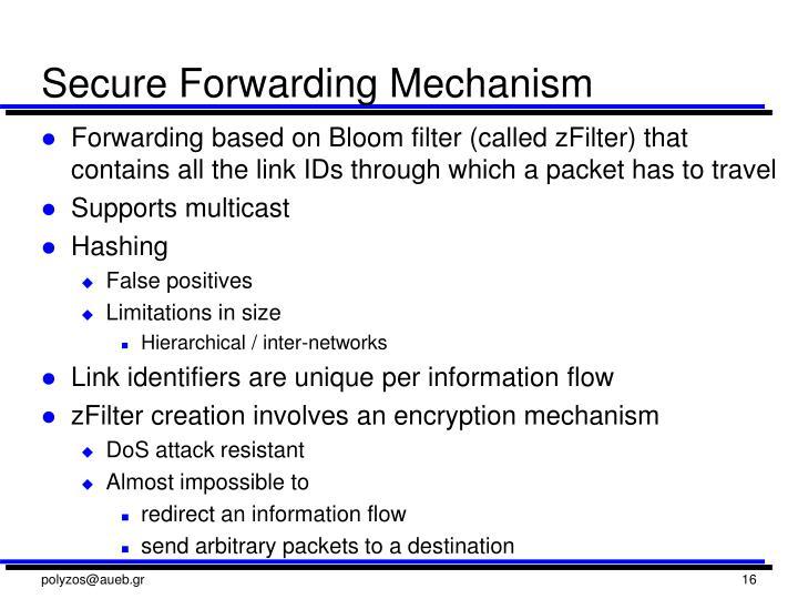 Secure Forwarding Mechanism