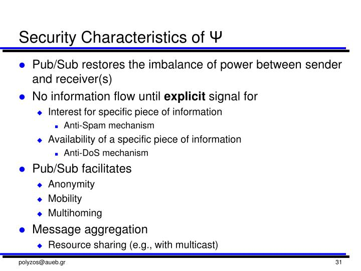 Security Characteristics of