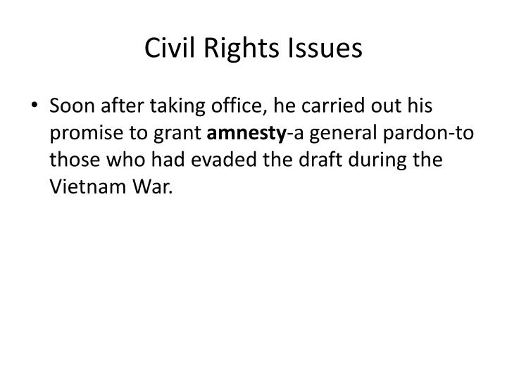 Civil Rights Issues