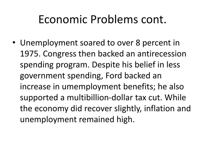 Economic Problems cont.