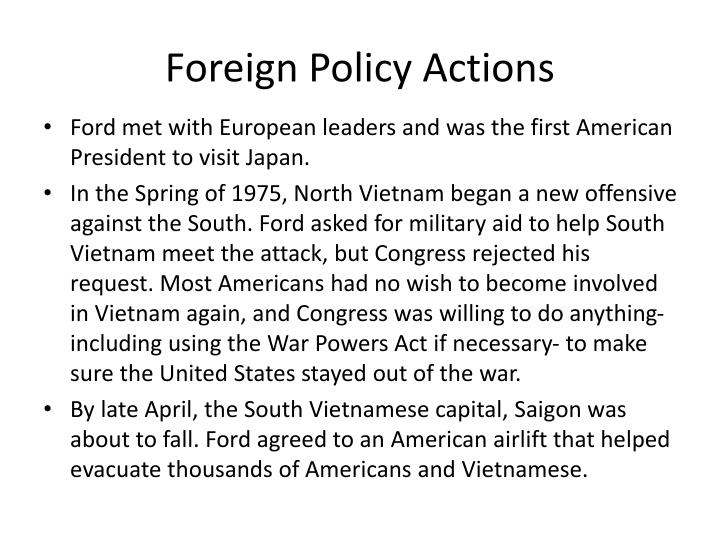Foreign Policy Actions