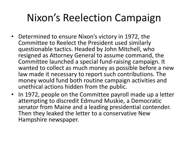 Nixon's Reelection Campaign