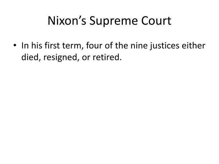 Nixon's Supreme Court