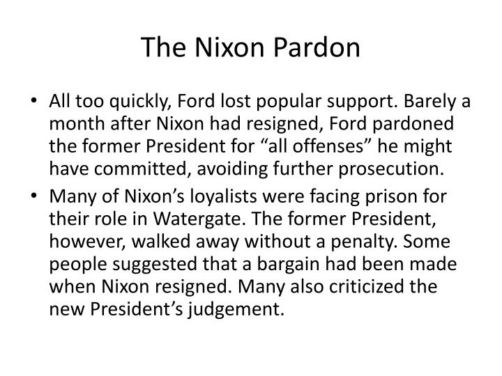 The Nixon Pardon