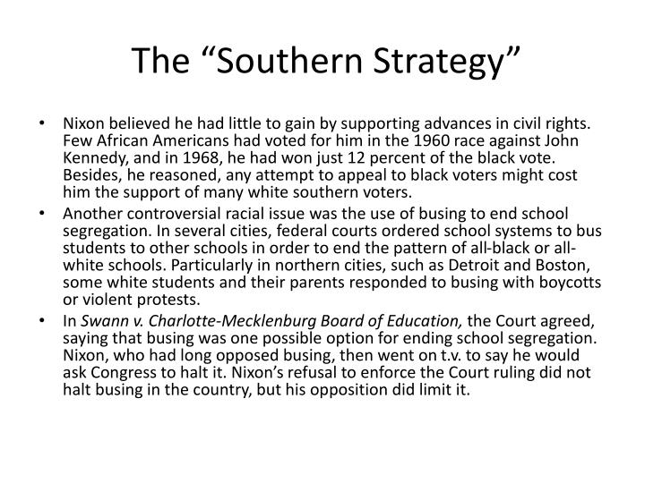 "The ""Southern Strategy"""